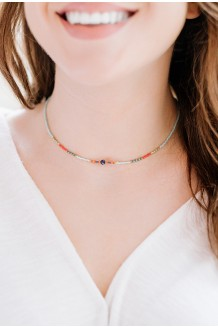 Semiprecious Uzuri necklace - blue moon quartz