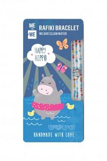 Cute Critters Rafiki Bracelet – Happy Hippo