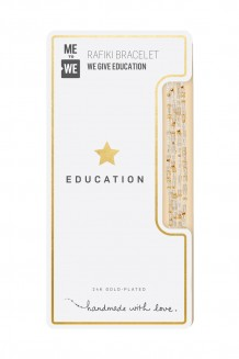 24K tonal Rafiki bracelet – education