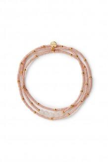 Semiprecious collection – three-wrap Rafiki – rose quartz