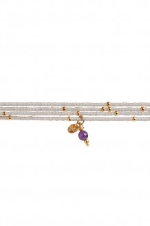 Semiprecious collection – Rafiki bracelet – amethyst