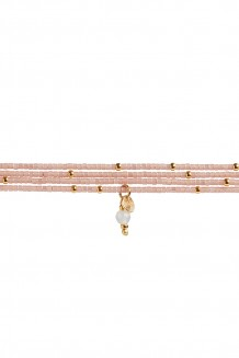 Semiprecious collection – Rafiki bracelet – rose quartz