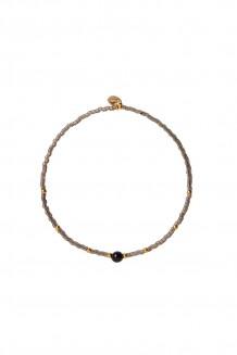 Semiprecious collection – single-strand Rafiki bracelet – black jasper