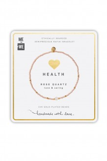 Semiprecious collection – single-strand Rafiki bracelet – rose quartz