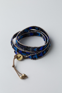Mambo Wrap Bracelet - Midnight Blue  - Midnight Blue