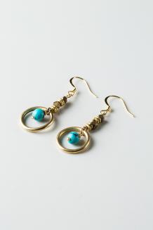 Feruzi Drop Earrings - Turquoise  - Turquoise