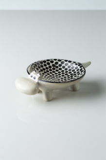 Dotted Soapstone Hippo Bowl