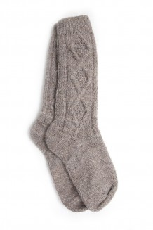 Ecuador Reading Socks - Gray (7-9)