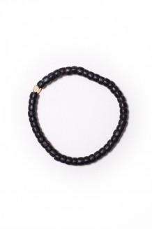 Turkana single strand bracelet - black
