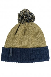 United by Blue – colorblock pom beanie - olive