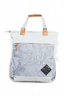 United by Blue – Topography Summit Convertible Tote Pack - grey/black