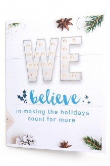 WE Believe holiday card – set of 10