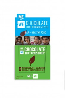 ME to WE Chocolate That Gives Food™  – Dark Chocolate + Goldenberries 12-Pack