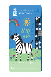Cute critter Rafiki bracelet - zany zebra (for ages 3+)