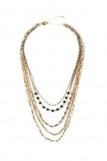 Zuri Convertible Necklace - Black Jasper